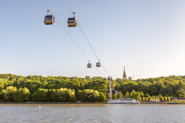 Fototapete - Cable car in Moscow, Russia