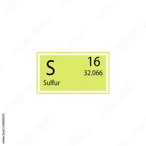 Periodic Table Element Sulfur Icon Element Of Chemical Sign Icon