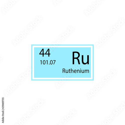 Periodic Table Element Ruthenium Icon Element Of Chemical Sign Icon