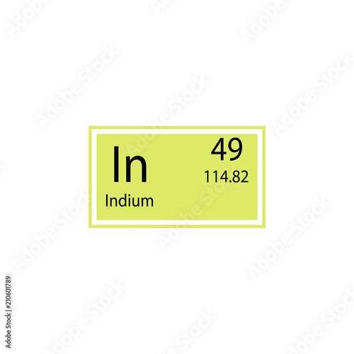 Periodic Table Element Indium Icon Element Of Chemical Sign Icon