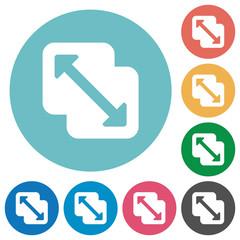 Merge shapes flat round icons