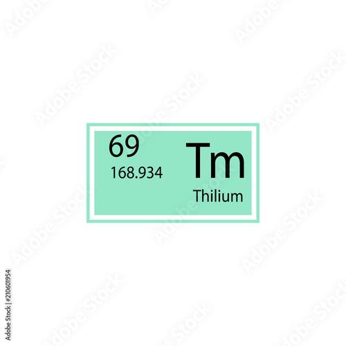 Periodic table element thilium icon element of chemical sign icon periodic table element thilium icon element of chemical sign icon premium quality graphic design urtaz Image collections