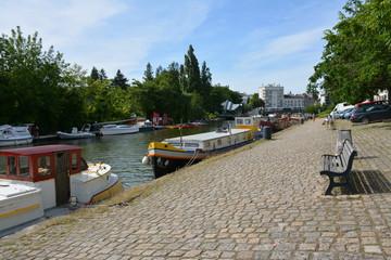 Nantes - L'Erdre et ses quais Fotomurales