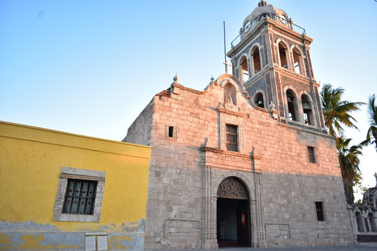 buildings in town of Loreto, Baja, Mexico