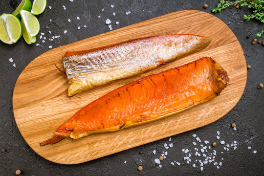 smoked trout on board