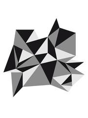 form muster dreiecke design origami cool papier