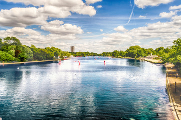 The Serpentine River in Hyde Park, London, UK