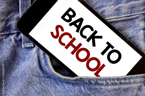 word writing text back to school business concept for return to