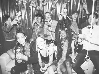 People enjoying a birthday party