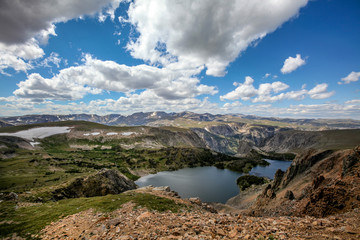 Scenic view along the Beartooth Highway in Montana.