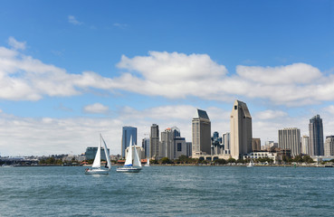 San Diego skyline during a sunny day