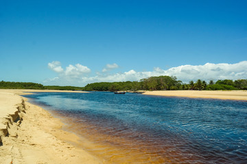 Calm river - Beautiful Bahia landscape (Ponta do Corumbau - Bahia - Brazil)