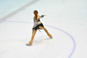 Girl ice skating Girl ice skating