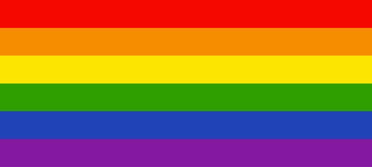 Vector image of a LGBTQ+ flag. Pride symbol.