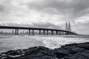 Bandra Worli Sea link in Mumbai, India