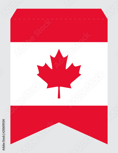 Printable Canada Day Party Banner Swallowtail Pennant Vector