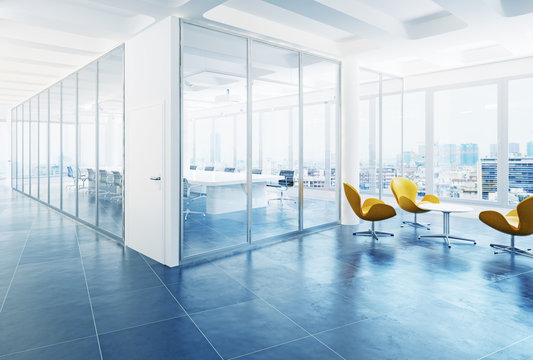 modern office conference room interior