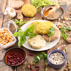 preparation of vegan burger
