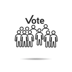 People Vote Icons , Person work group Team Vector