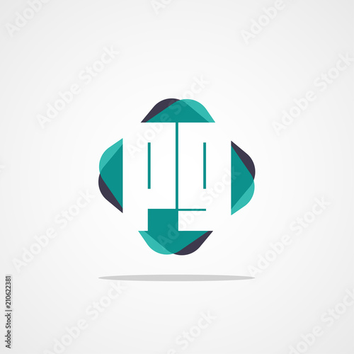 Initial Letter Pg Logo Template Design Stock Image And Royalty Free