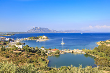 Taslik beach with lake and Sea port of Datca, Turkey