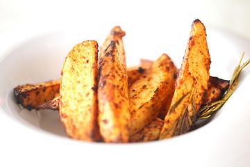 Photo of a macro baked potato