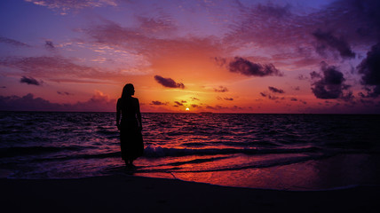 dreaming sunset maldives