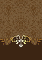 Wall Mural - Vintage background with decorative patterns.