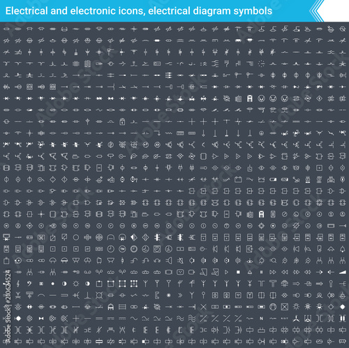 Marvelous Electrical And Electronic Icons Electrical Diagram Symbols Circuit Wiring 101 Hemtstreekradiomeanderfmnl