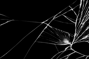 Black cracked Touch Screen Phone, background, texture for you project.