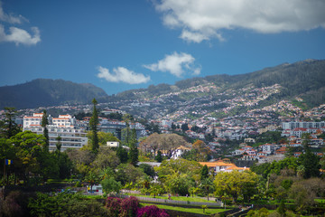 View on Funchal city Madeira