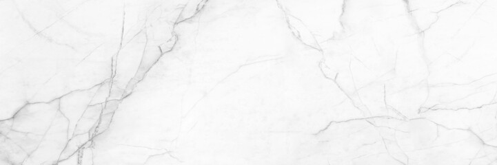 panoramic white background from marble stone texture for design Fotoväggar