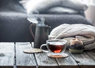 still life tea in the living room