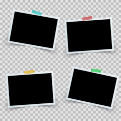 Set four photo frame icon. Vector eps 10