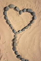 Herzballon Stein und Sand