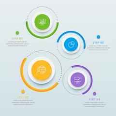Infographics business design presentation template.Design element