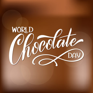 Chocolate world day. Vector elements for invitations, posters, greeting cards. T-shirt design