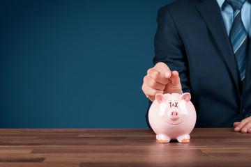 Tax management concept