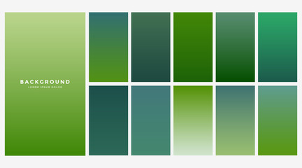 fresh green eco gradients background