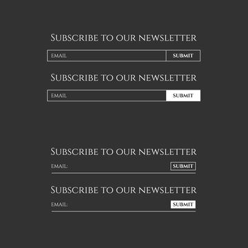 Subscribe to our newsletter form