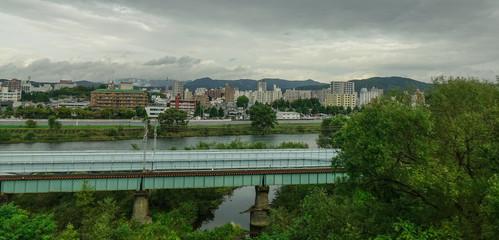 Mountain township in Sendai, Japan