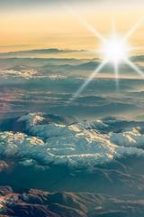 Luftbild Zagrosgebirge im Gegenlicht
