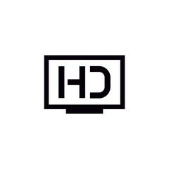 HD TV vector icon