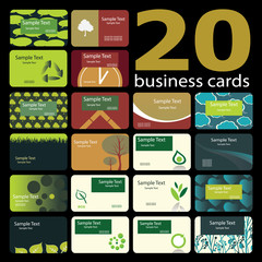 20 Colorful Business Cards