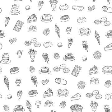 お菓子の背景イラスト