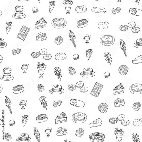 お菓子の背景イラストfotoliacom の ストック画像とロイヤリティフリー