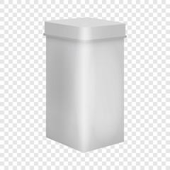 Blank box mockup. Realistic illustration of blank box vector mockup for web
