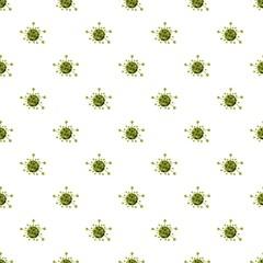 Virus cell pattern seamless repeat in cartoon style vector illustration