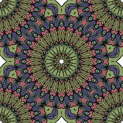 mistic floral seamless pattern. vector illustration