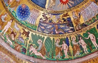 Schöpfung, Mosaik, Markusdom, Venedig